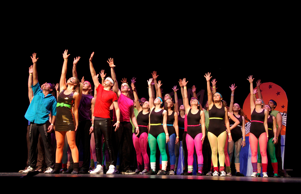 "Students from Delta Gamma, Acacia and Alpha Sigma Phi took fifth place overall in Penn State's annual Greek Sing for their renditions from the Broadway musical ""Fame."" The event was held Sunday, Nov. 1, before a sold-out crowd in Eisenhower Auditorium."